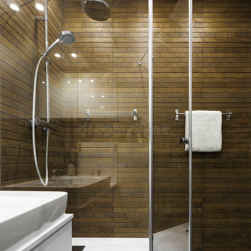 斯堪的纳维亚设计在卫生间里 免版税库存图片