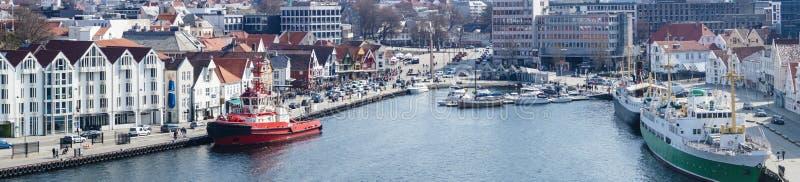 斯塔万格在挪威 库存照片