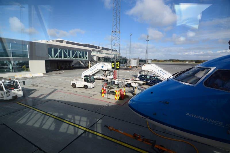 斯塔万格机场, Sola 罗加兰县 挪威 免版税图库摄影