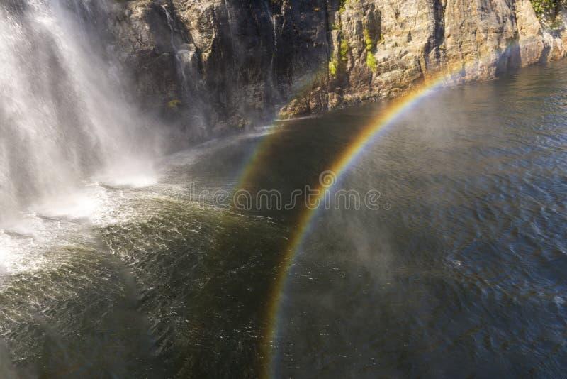 斯塔万格莱塞峡湾瀑布游 免版税库存照片