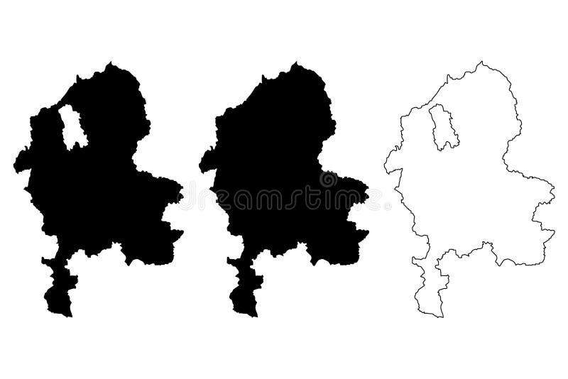 斯塔福德郡地图传染媒介 皇族释放例证