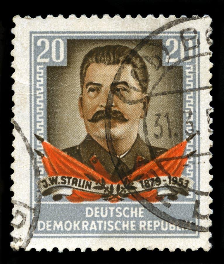 斯大林葡萄酒邮票 免版税库存照片