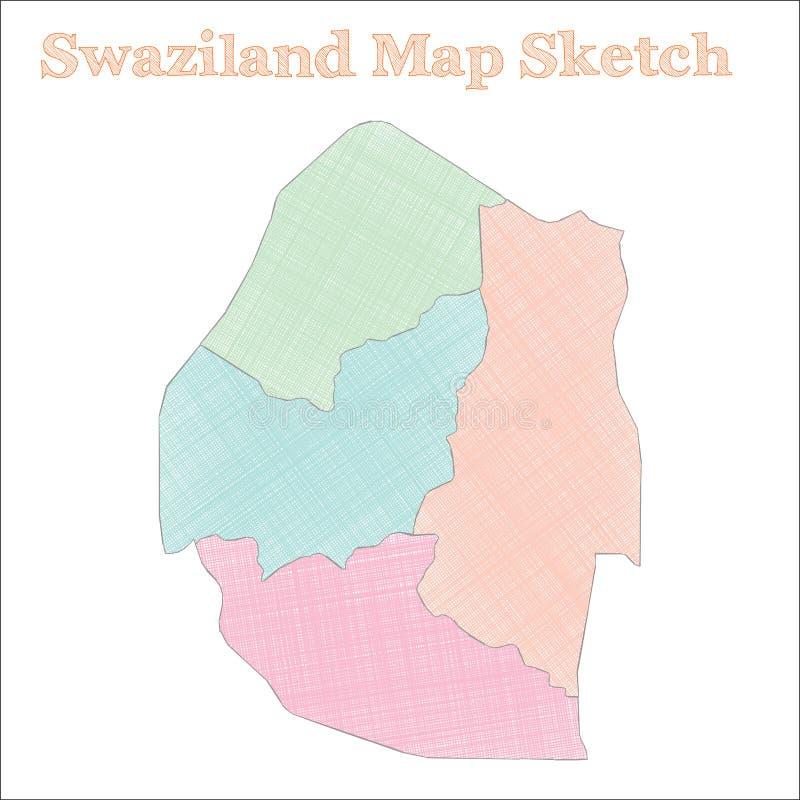 斯威士兰地图 皇族释放例证