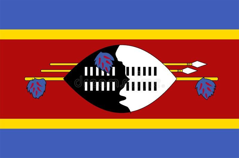 斯威士兰旗子传染媒介 斯威士兰旗子的例证 库存例证