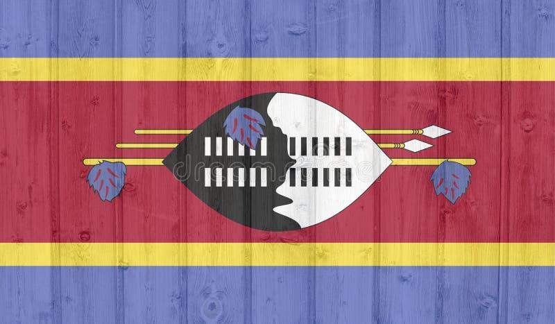 斯威士兰旗子 库存例证
