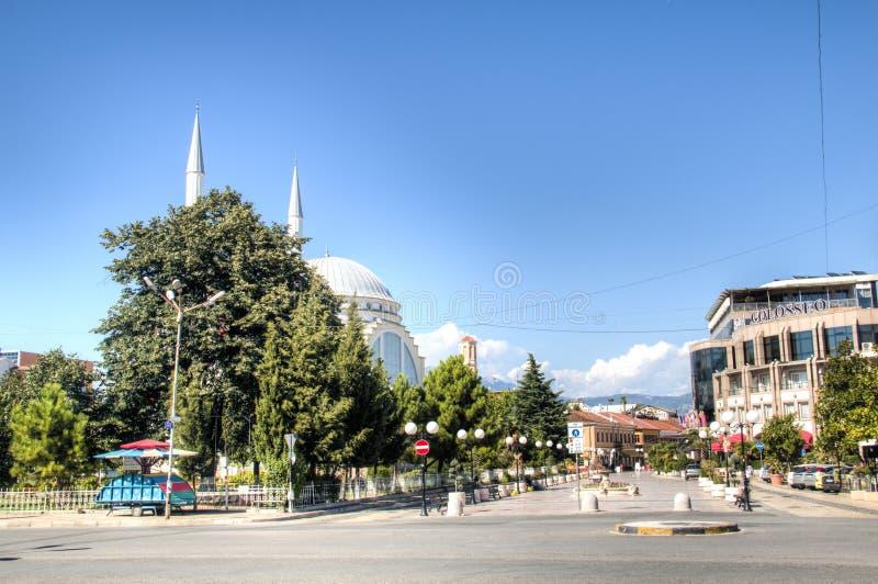 斯库台,阿尔巴尼亚的市中心 免版税库存照片