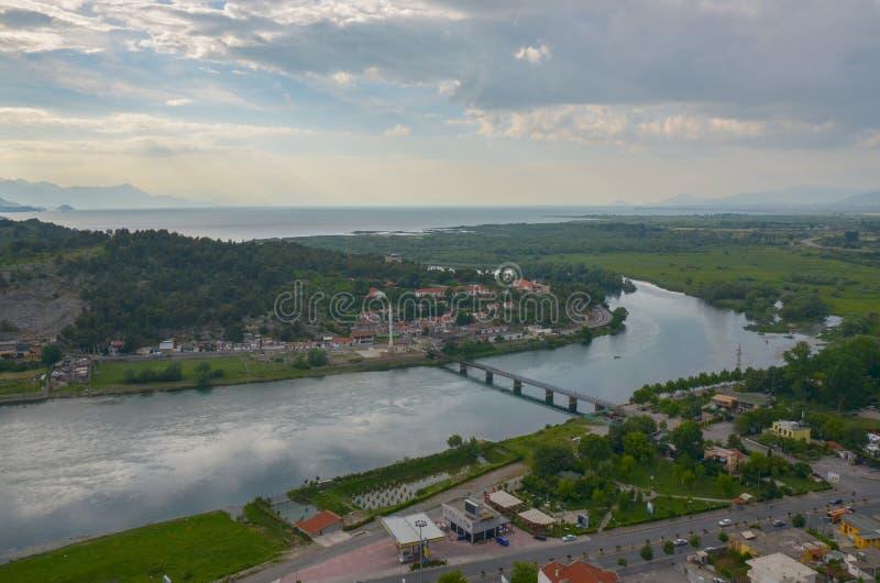 斯库台,阿尔巴尼亚都市风景  免版税图库摄影