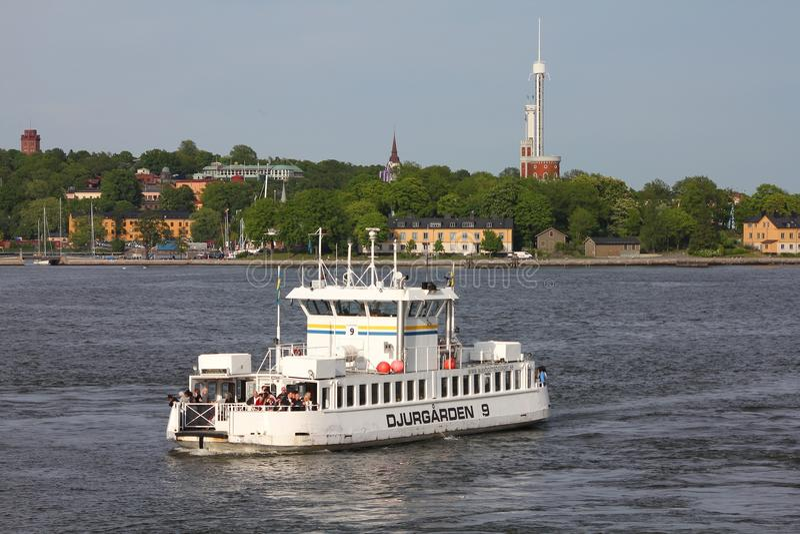 斯德哥尔摩公众轮渡 库存照片