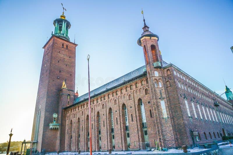 斯德哥尔摩市政厅在斯德哥尔摩 库存照片