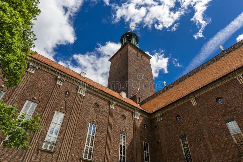 斯德哥尔摩市政厅 图库摄影