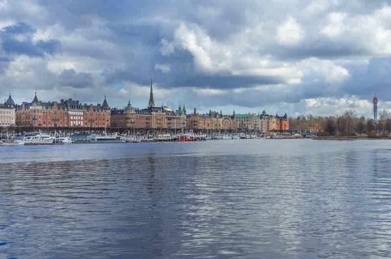 斯德哥尔摩市老中心 免版税库存照片
