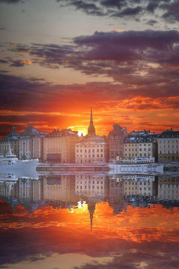 斯德哥尔摩是资本瑞典 库存图片