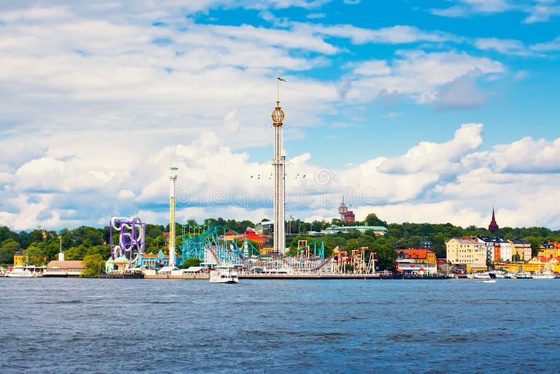 斯德哥尔摩游乐园 免版税库存照片