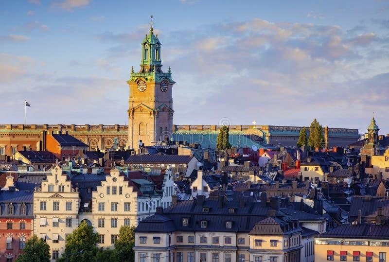 斯德哥尔摩瑞典看法  免版税库存图片