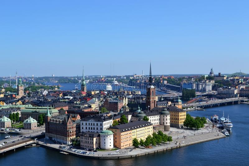 斯德哥尔摩瑞典Gamla stan街市 图库摄影