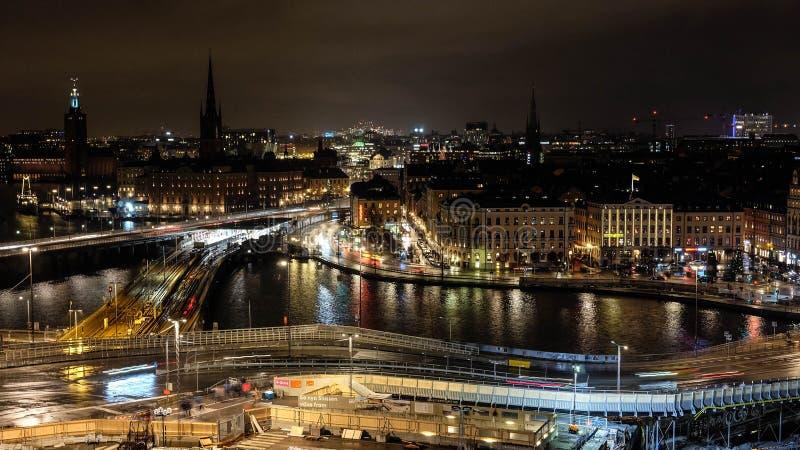 斯德哥尔摩的市中心 库存照片