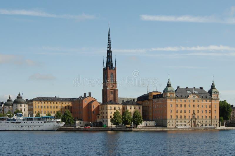 斯德哥尔摩视图 免版税库存图片