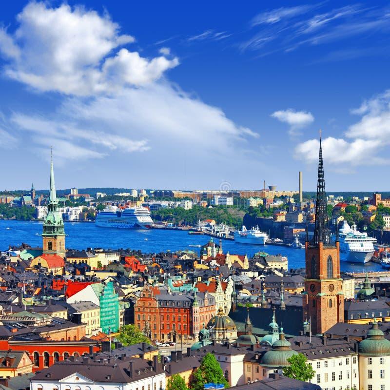 斯德哥尔摩风景看法  图库摄影
