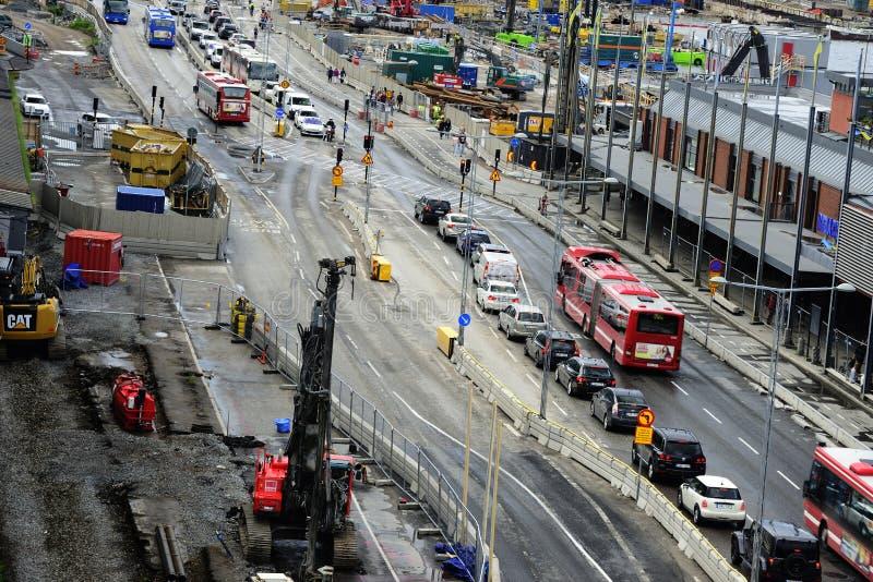"""斯德哥尔摩,瑞典†""""2017年6月16日:在sectio的公路交通 免版税图库摄影"""