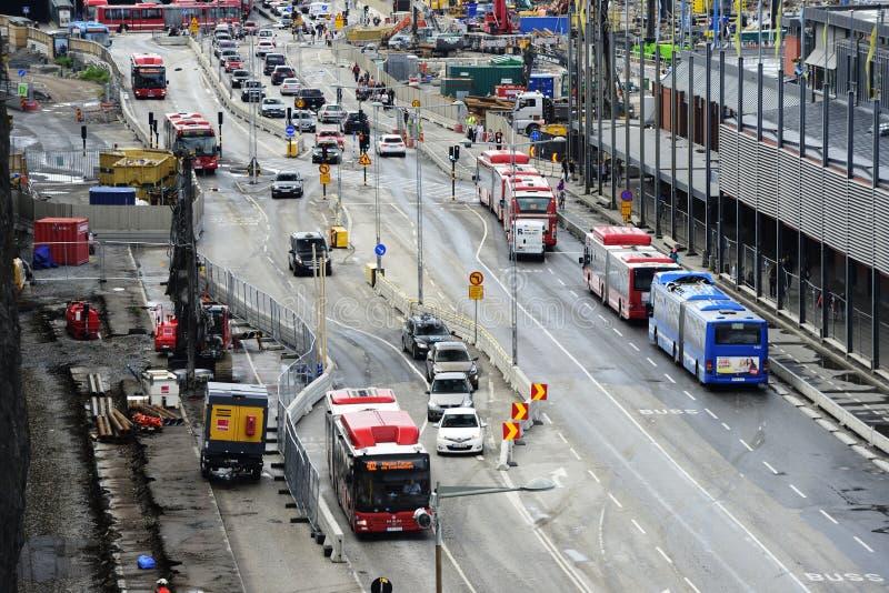 """斯德哥尔摩,瑞典†""""2017年6月16日:在sectio的公路交通 库存图片"""