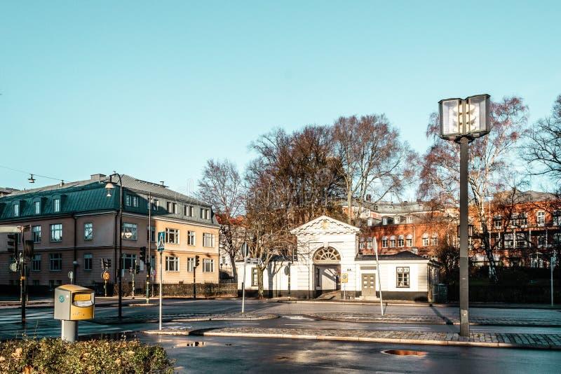 斯德哥尔摩,瑞典大厦和议院  图库摄影