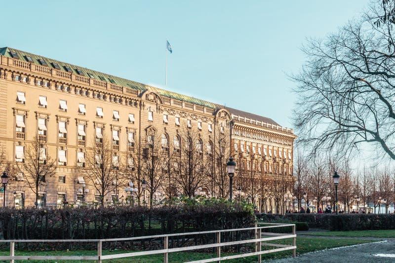 斯德哥尔摩,瑞典街道和大厦  库存照片