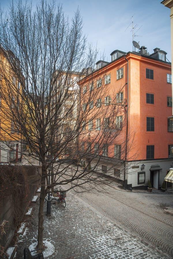 斯德哥尔摩,瑞典都市风景 库存图片