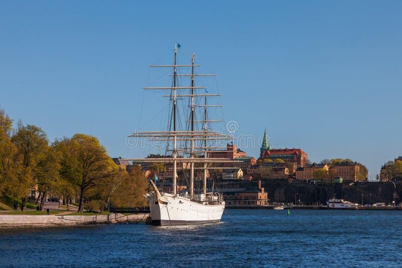斯德哥尔摩,瑞典- 2011年4月30日:航行 库存照片