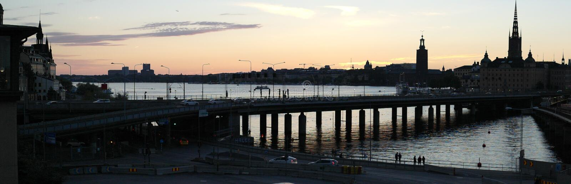 斯德哥尔摩9月日落 库存图片