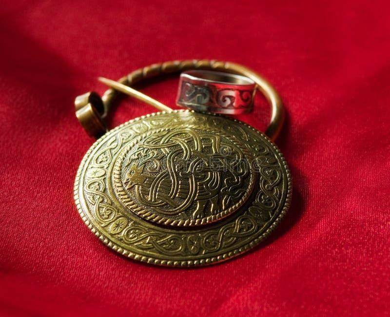斯拉夫古老设计的珠宝 图库摄影