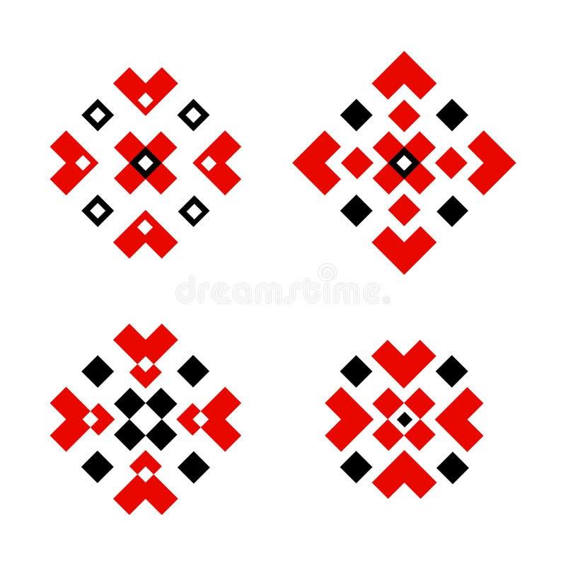 斯拉夫的几何装饰品传统装饰 库存例证