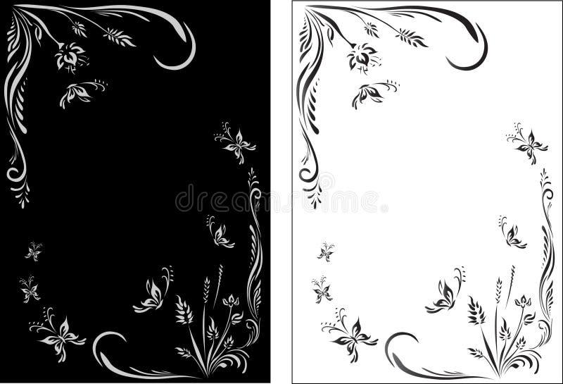 斯拉夫的花卉样式 向量例证