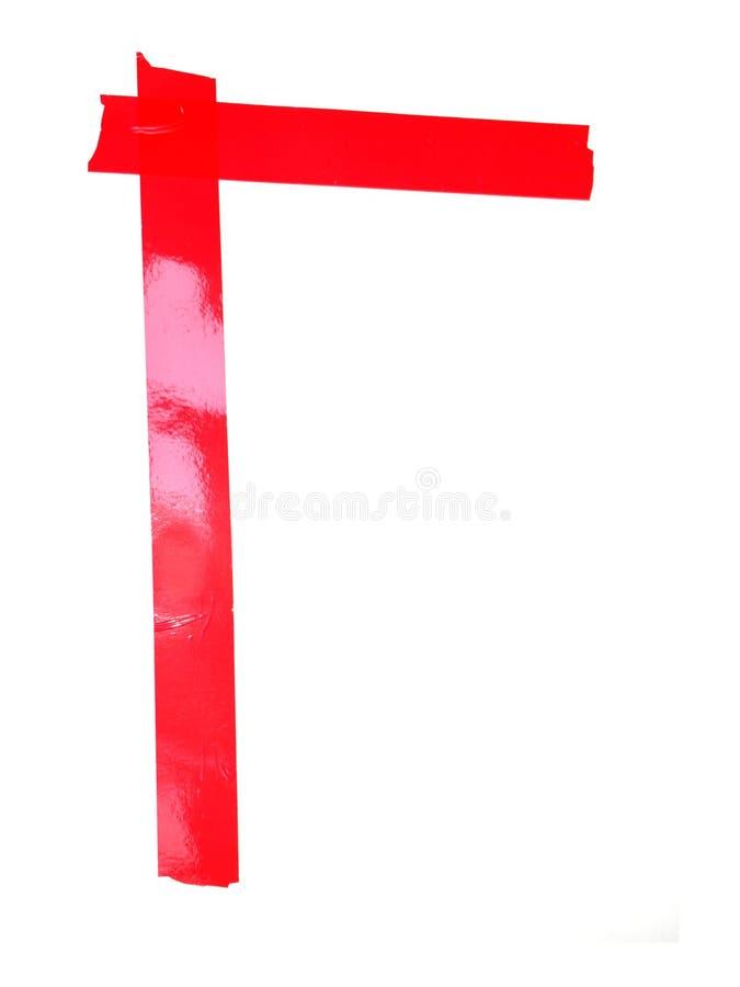 斯拉夫语字母的信件G标志做了绝缘胶带片断,孤立 免版税库存图片