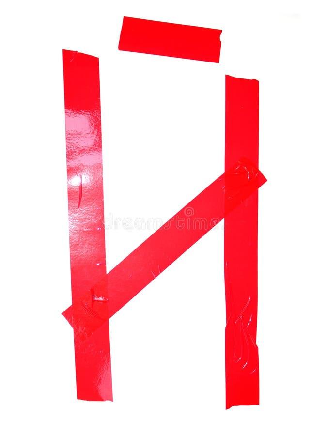 斯拉夫语字母的信件Iy标志做了绝缘胶带片断,isolat 免版税库存照片