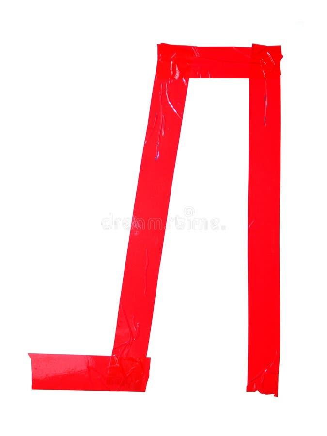 斯拉夫语字母的信件L标志做了绝缘胶带片断,孤立 免版税库存照片