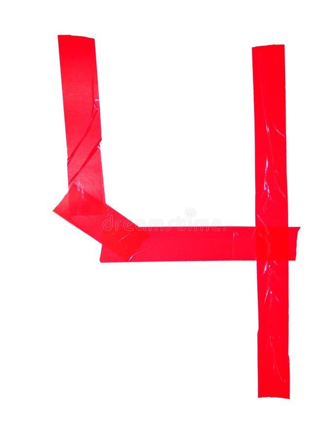 斯拉夫语字母的信件TCH标志做了绝缘胶带片断,隔绝在白色背景 库存图片