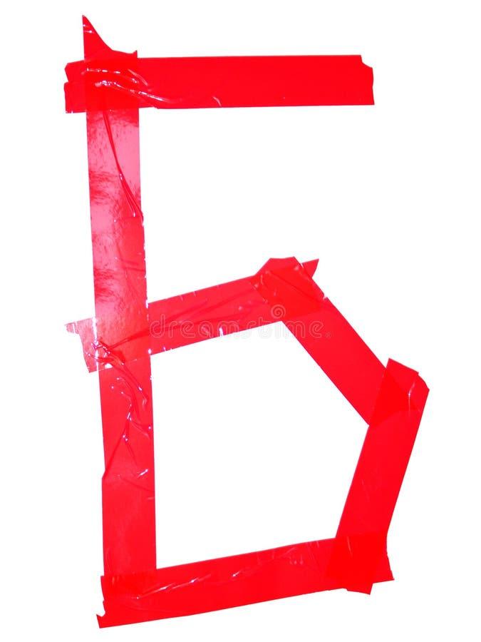 斯拉夫语字母的信件X标志做了绝缘胶带片断,孤立 库存图片