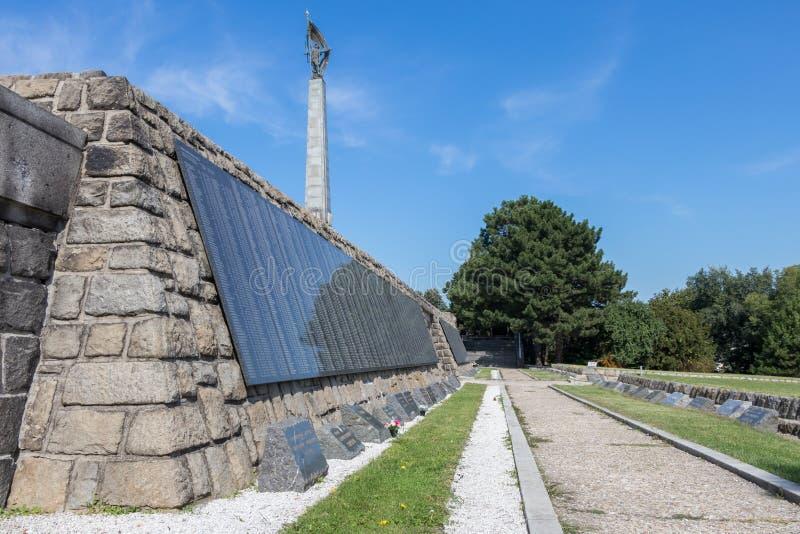 斯拉文纪念纪念碑和军事公墓 免版税库存图片