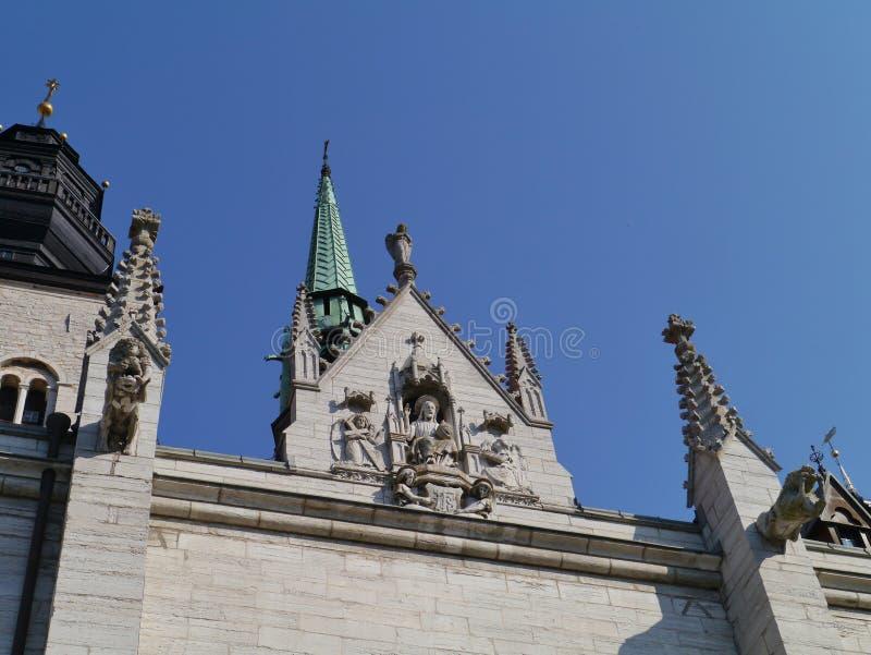 维斯比大教堂哥得兰岛的 库存图片