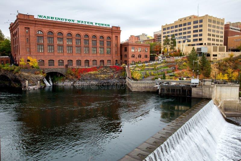 斯波肯河在斯波肯 免版税图库摄影