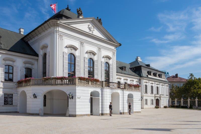 斯洛伐克共和国的总统的住所 免版税库存照片