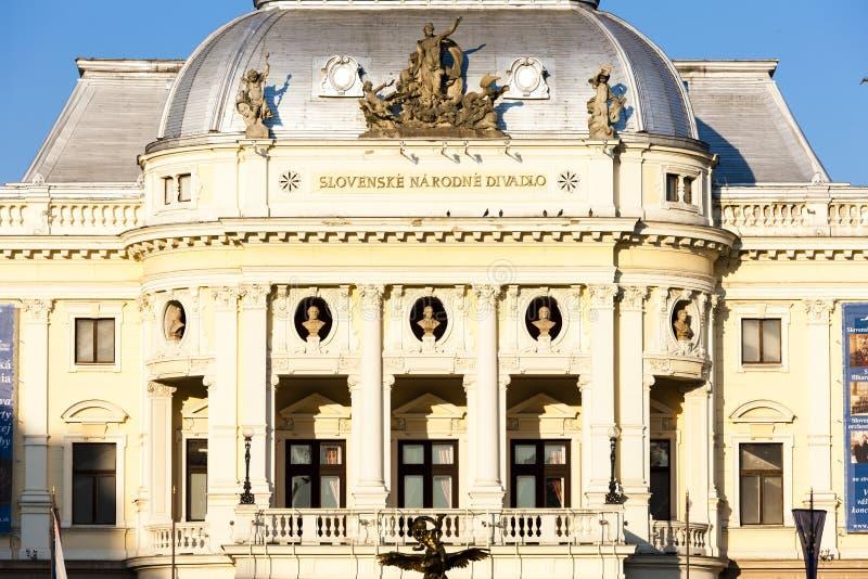 斯洛伐克国家戏院,布拉索夫,斯洛伐克 免版税库存图片