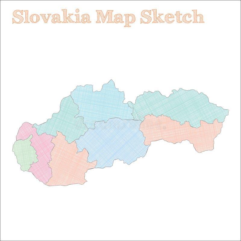 斯洛伐克地图 向量例证