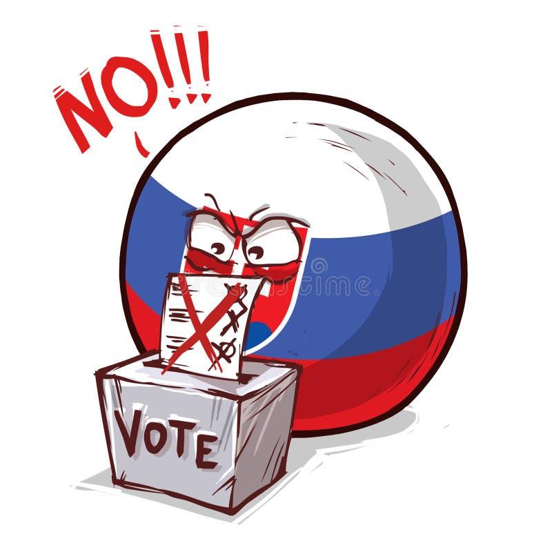 斯洛伐克投反对票国家的球 向量例证