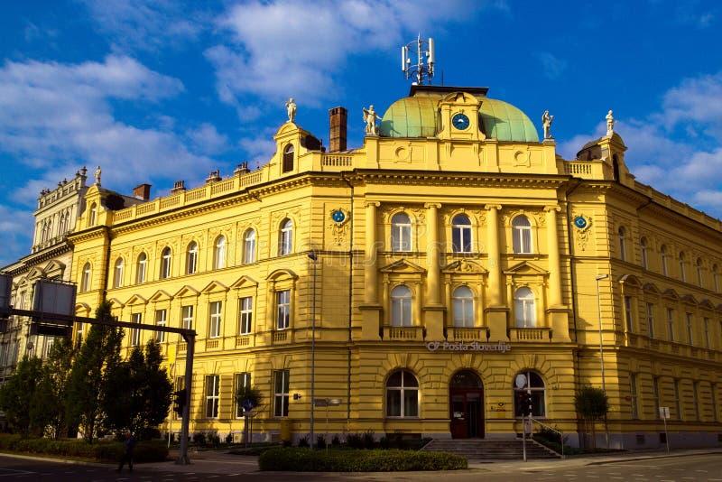 斯洛文尼亚塞列邮局 免版税库存照片
