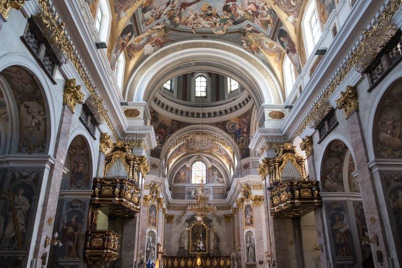 斯洛文尼亚,圣尼古拉斯大教堂 库存图片
