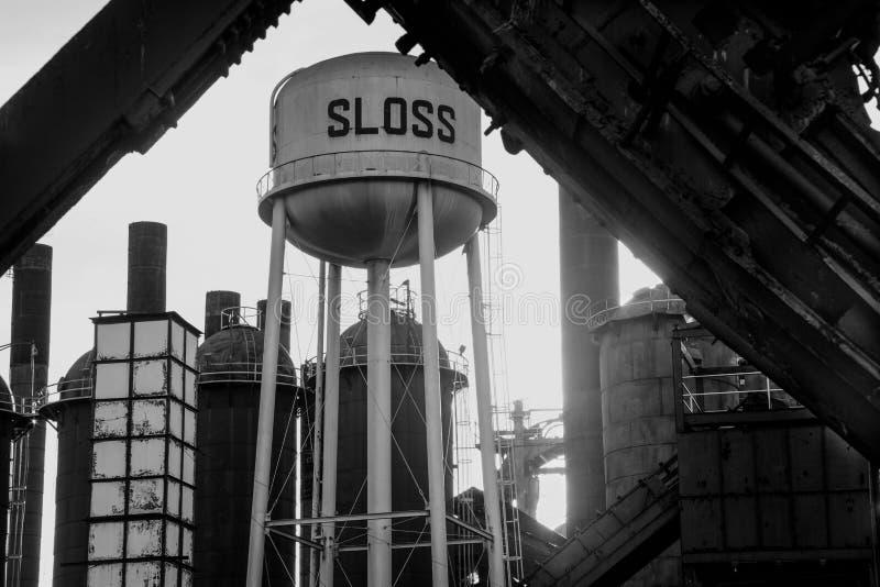 斯洛斯熔炉水塔 图库摄影