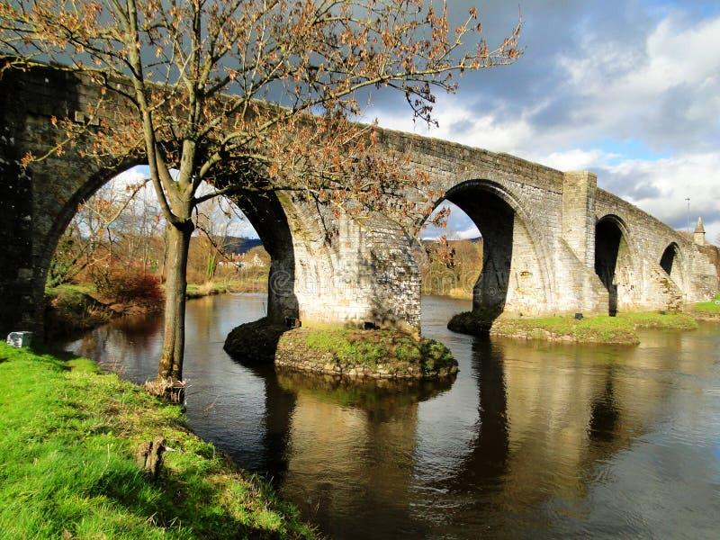 斯特灵桥梁在苏格兰 免版税图库摄影