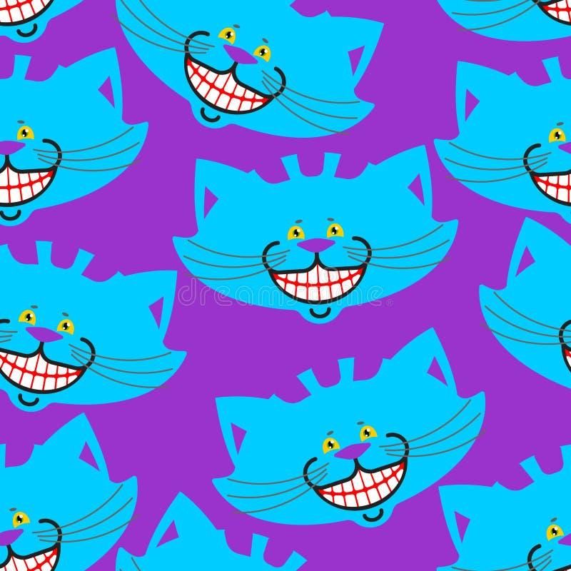 彻斯特猫微笑样式 在wonde的纹理意想不到的宠物阿丽斯 皇族释放例证