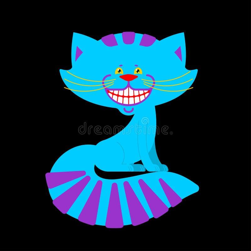 彻斯特被隔绝的猫微笑 意想不到的宠物阿丽斯在妙境 向量例证